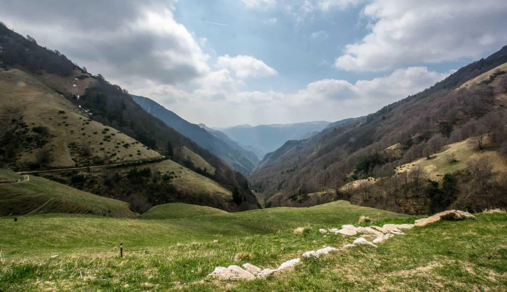 Vista sulla Val Fraselle