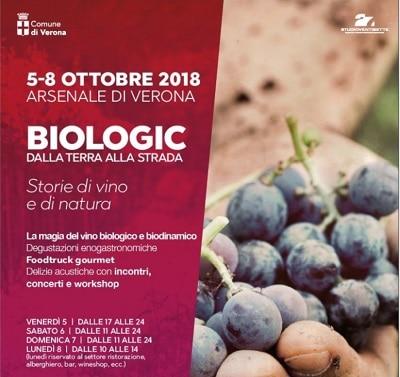 Eventi Verona – BIOLOGIC: vini biologici e cibo di qualità all'Arsenale. Dal 5 all'8 ottobre