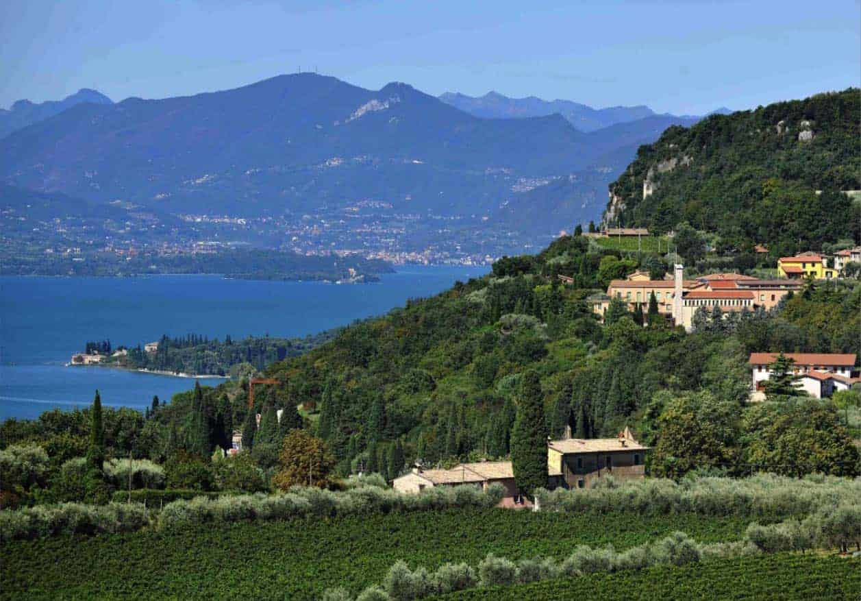 Vini Bardolino - panorama del lago di Garda - Verona