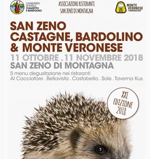 Eventi Verona: castagne, vino Bardolino e formaggio Monte Veronese a San Zeno di Montagna