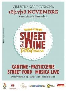 Sweet & Wine - sfogliatina e vini dolci veronesi - Villafranca di Verona - 16-17-18 novembre 2018 - locandina