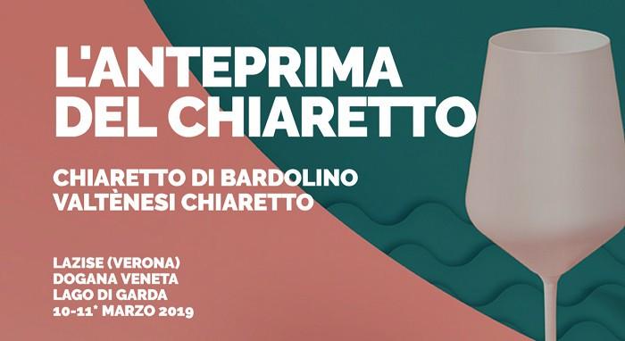 Chiaretto Bardolino, l'Anteprima del Chiaretto a Lazise domenica 10 e lunedì 11 marzo 2019. Oltre 120 etichette dalle Doc veronesi e bresciane del lago di Garda