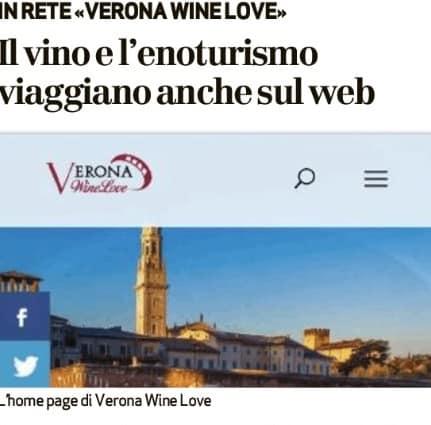 """""""Verona Wine Love"""" sul quotidiano L'Arena. Un articolo nelle pagine dedicate a Vinitaly dove si parla del portale sull'enoturismo a Verona (e oltre)"""