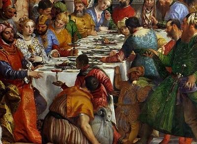 Paolo Veronese, le nozze di Cana - vino nel Rinascimento