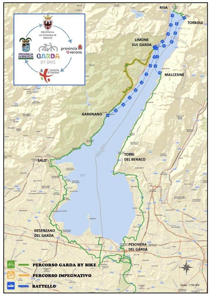 Cartina Fisica Lago Di Garda.Piste Ciclabili Sul Lago Di Garda In Bicicletta Sul Lago Che Emozione