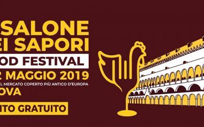 """Il """"Salone dei Sapori"""" a Padova. Food festival dall'8 al 12 maggio 2019 con il cibo delle antiche botteghe e i vini dei Colli Euganei"""