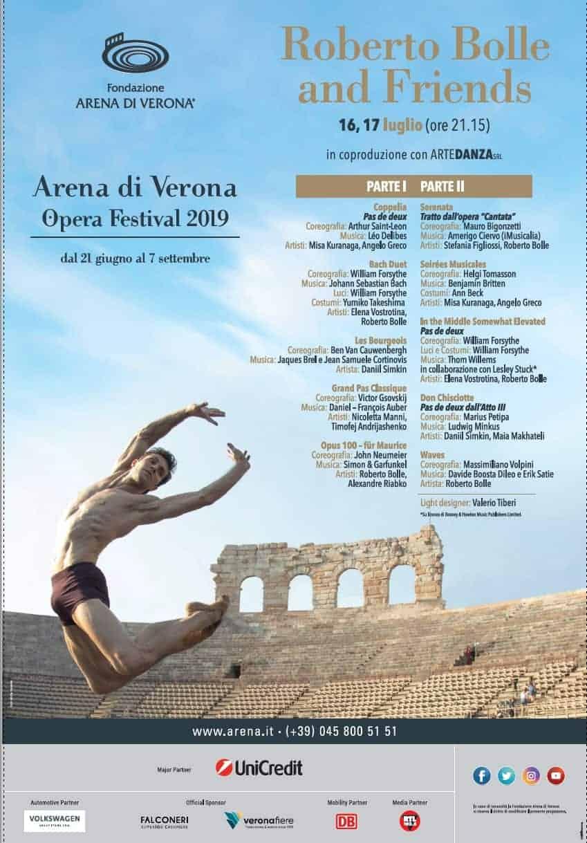 Arena di Verona - Roberto Bolle - 16-17 luglio 2019 - danza - Opera Festival 2019