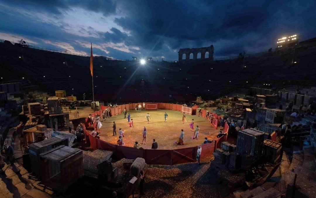 """""""Carmen"""", l'opera più amata all'Arena di Verona, ha debuttato sabato 6 luglio all'Arena Opera Festival 2019. Regia di Hugo de Ana"""