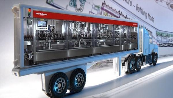 Imbottigliamento del vino, il sistema itinerante del Gruppo Bertolaso pronto a solcare le strade del Nord America. Guarda il video sull'impianto