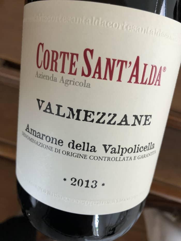 Amarone della Valpolicella 2013 prodotto dall'azienda vinicola Corte Sant'Alda di Mezzane di Sotto (Verona)