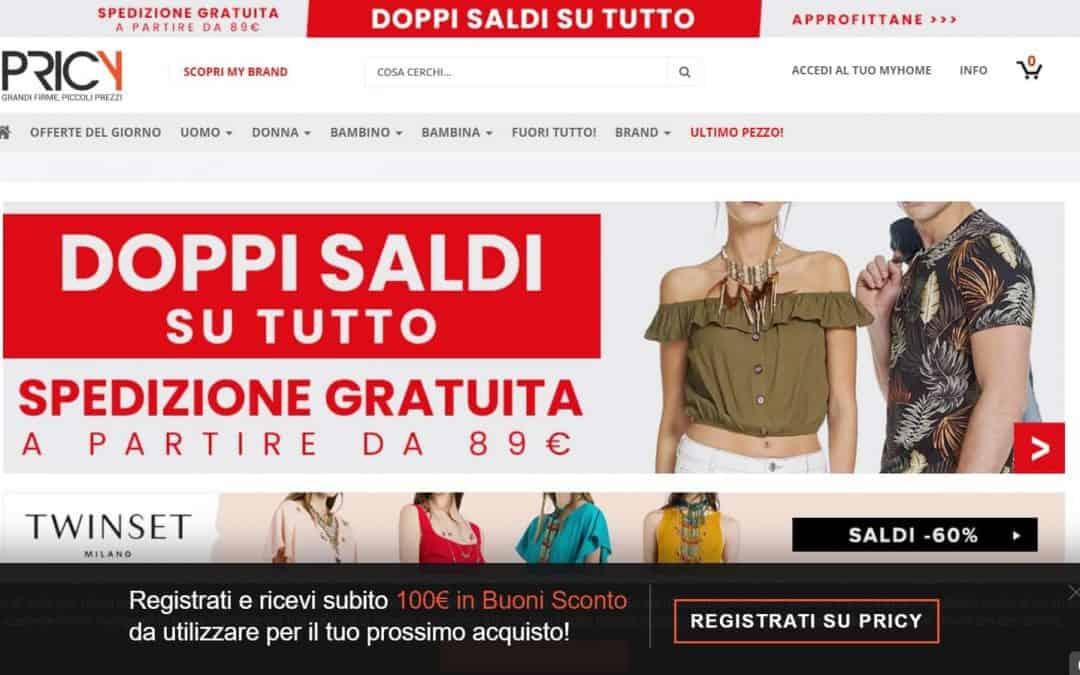 Abbigliamento online: con Pricy subito 100 euro per il buono ...