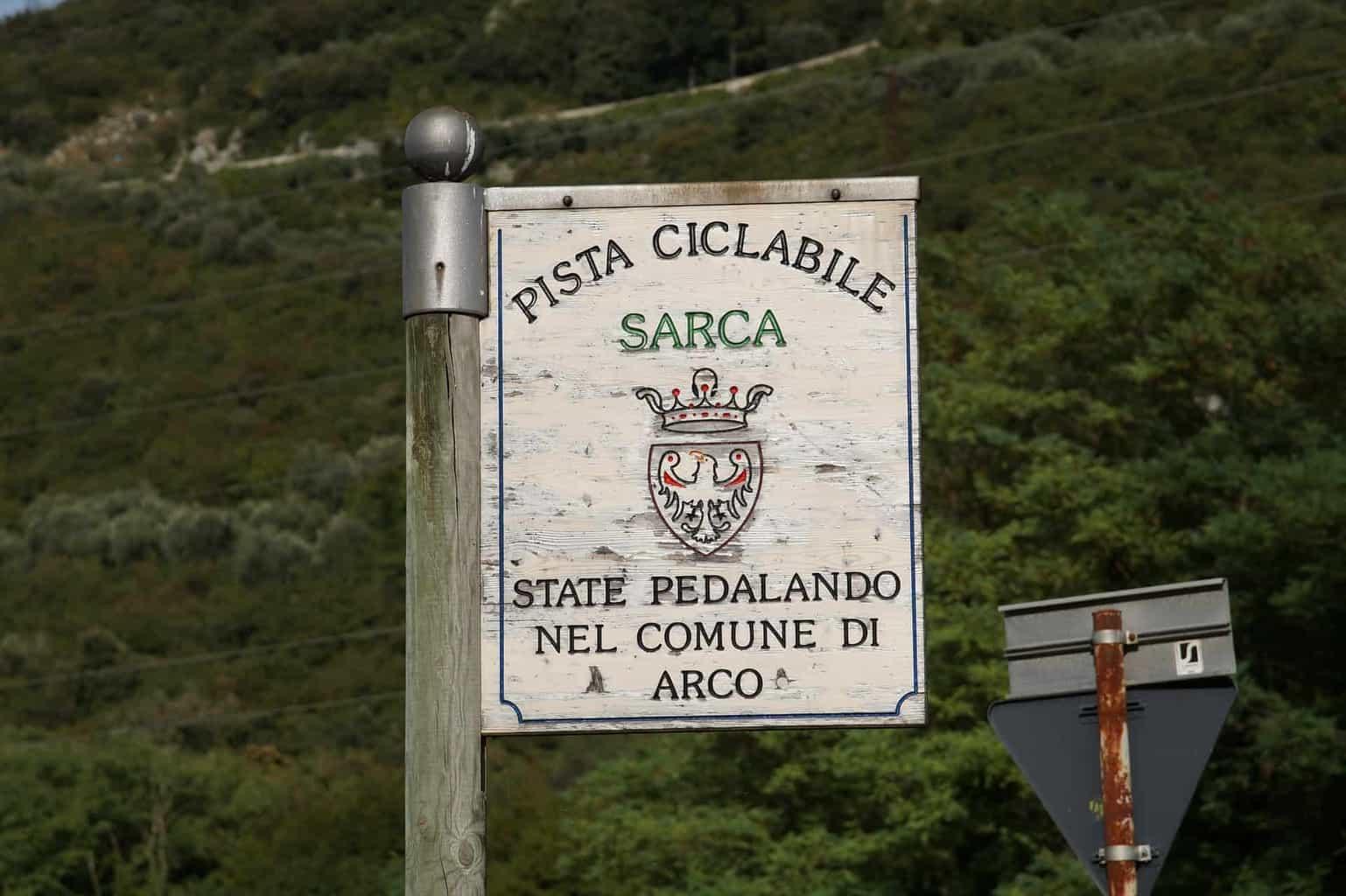 La ciclabile del Sarca tra Trento e Riva del Garda