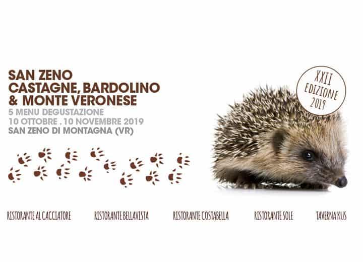 Bardolino wine and chestnuts. It's autumn time on Monte Baldo and in San Zeno di Montagna, next to Lake Garda. Wine and extraordinary food