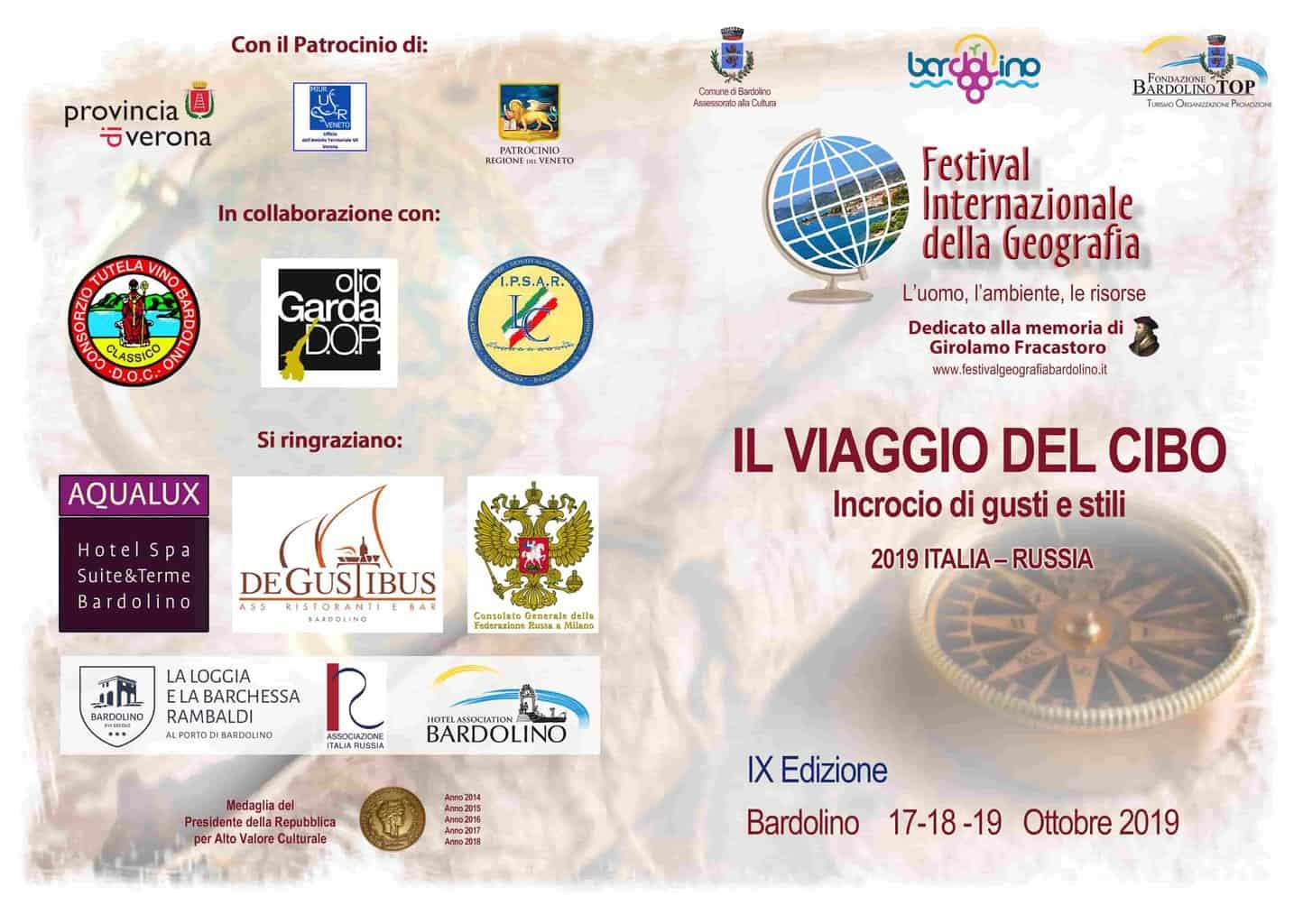 Festival Internazionale della Geografia - Bardolino - ottobre 2019 - Verona Wine Love
