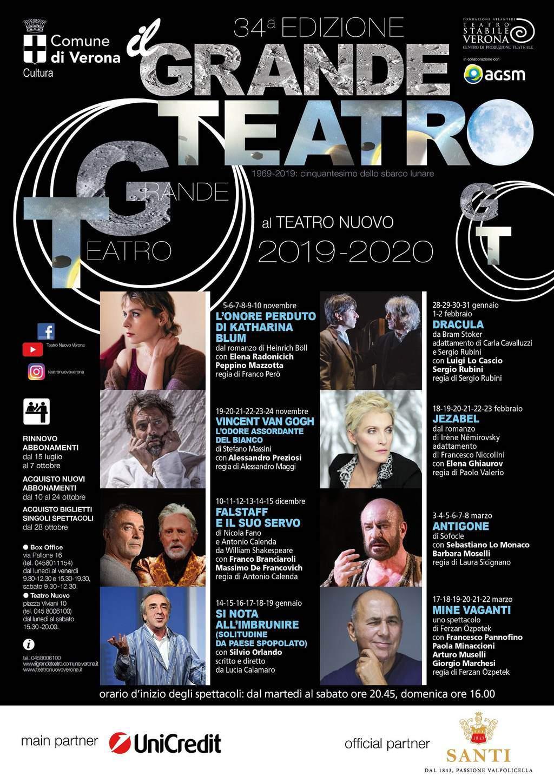 Locandina 34esima edizione Il Grande Teatro Verona - Teatro Nuovo - Verona Wine Love