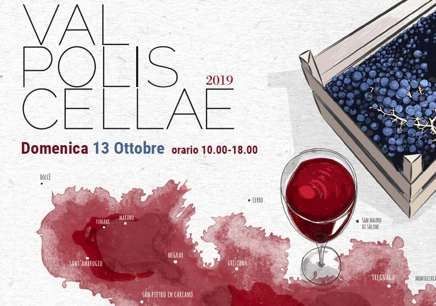 """Vini della Valpolicella, c'è """"Val Polis Cellae 2019"""": domenica 13 ottobre cantine aperte in Valpolicella. Degustazioni, sapori e cultura nella terra dell'Amarone"""