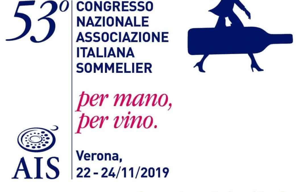 A Verona il 53° Congresso Nazionale AIS dal 22 al 24 novembre 2019. Focus sull'enoturismo e Guida Vinetia 2020. E poi laboratori, degustazioni e tour enogastronomici