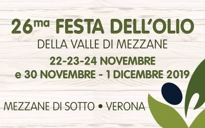 Extra Virgin Olive Oil Festival in Mezzane di Sotto (Verona). Food, wine, music and culture on November and December 2019