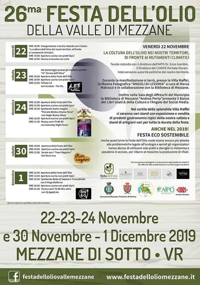 Festa dell'Olio Valle di Mezzane - Verona - novembre 2019