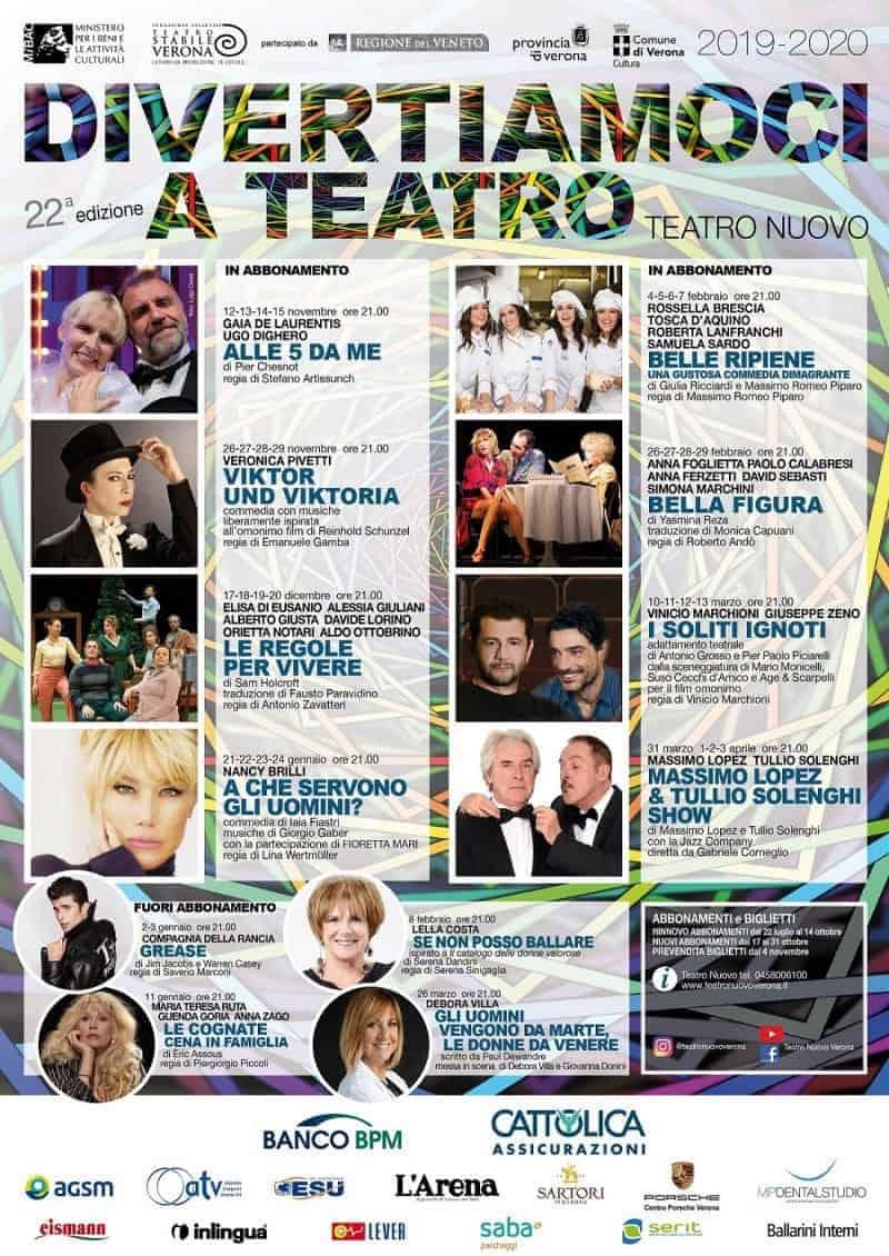 Verona- Teatro Nuovo programma 2019