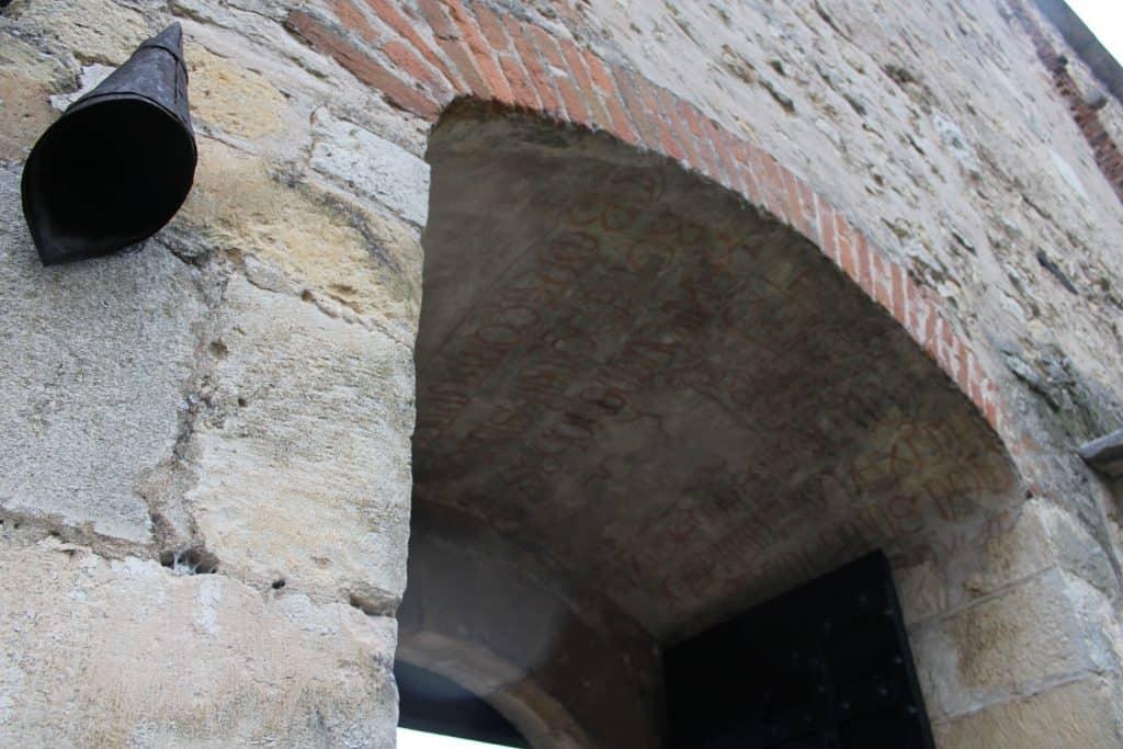 Dettaglio porta castello di Soave
