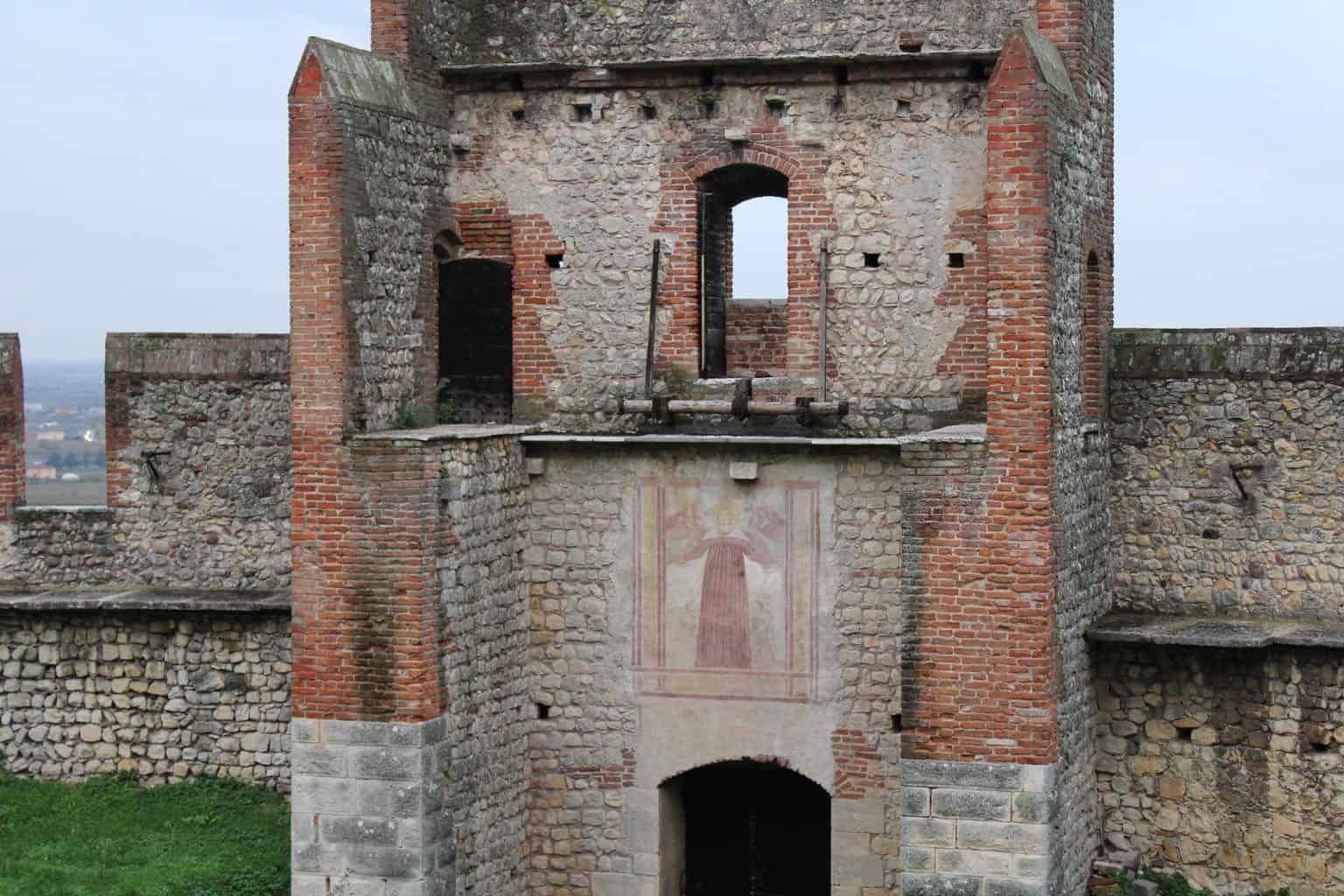 Affresco torre castello di Soave