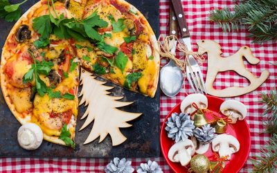 Menù natalizio e di Capodanno con ricette a base di pizza da gran gourmet. Scopri l'innovativa proposta del blogger pizzaiolo Andrea Braga