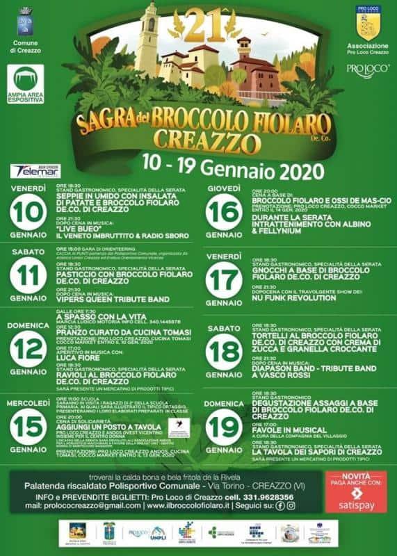 Sagra del Broccolo Fiolaro - Creazzo - gennaio 2020