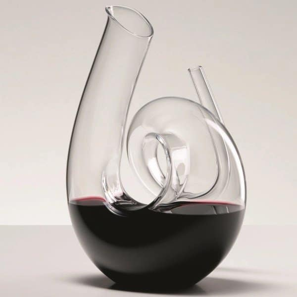 decanter curly clear