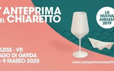 L'Anteprima del Chiaretto alla Dogana di Lazise, sul Lago di Garda. Domenica  8 e lunedì 9 marzo 2020 i vini rosa gardesani si presentano con i vini rosa francesi