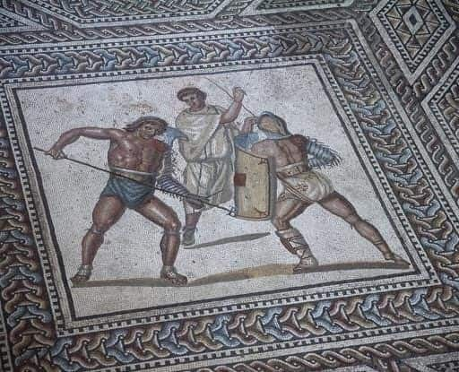 In Valpolicella area were found Mosaics of a Roman villa of third century A.D.