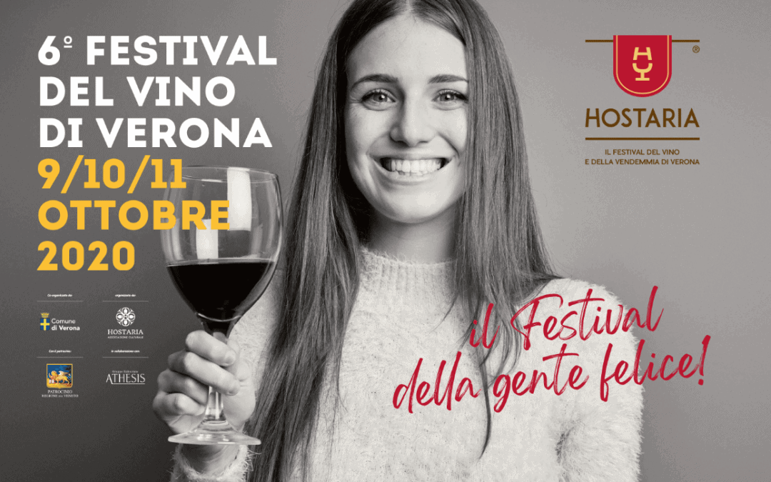 """Nuovo appuntamento con il vino in città: torna Hostaria Verona, il """"Festival della gente felice"""", dal 9 all'11 ottobre 2020"""